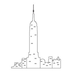 new york cityscape vector image