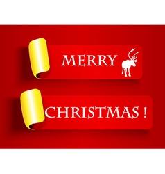 Peeling label-Merry Christmas vector image