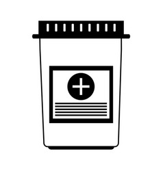 Pills flask healthcare icon image vector