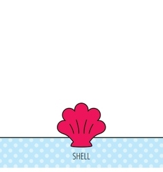 Sea shell icon seashell sign vector