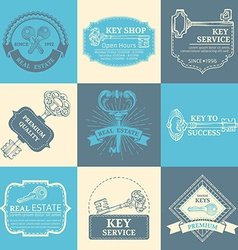 set of keys design elements vector image vector image