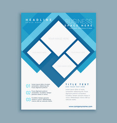 stylish blue brochure flyer design template with vector image vector image