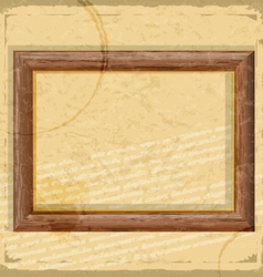 Vintage card with wooden frames in grunge style vector image