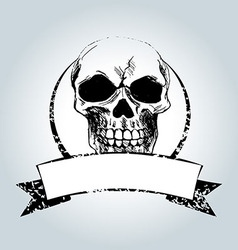 Vintage label with skull vector image vector image