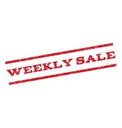 Weekly Sale Watermark Stamp vector image vector image