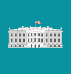 white house america residence of president usa us vector image