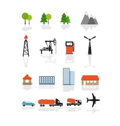 ecology symbols vector image