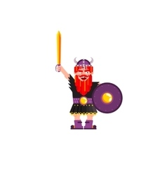 character Warrior Viking vector image