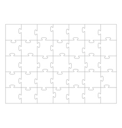 Jigsaw puzzle template 35 pieces vector
