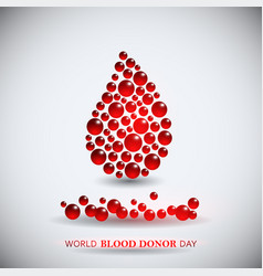 World blood donor day image vector