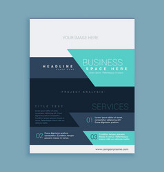 Modern geometric brochure flyer poster design in vector