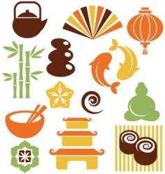 zen icons vector image