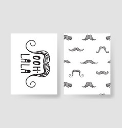 Set of templates for fashion cards hand drawn vector