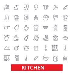 kitchen cooking tools restaurant utensils vector image