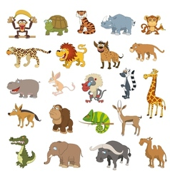 Africa animals set vector