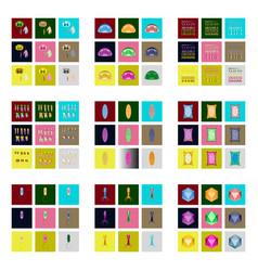 Icons set in flat style cells viruses teeth vector