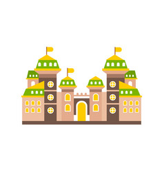 colorful fortress or stronghold with fortified vector image