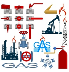 Set the gas production industry vector image