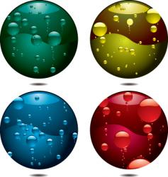 bubble button vector image