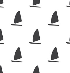 Sail boat seamless pattern vector