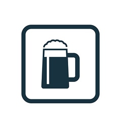 Glass of beer icon rounded squares button vector