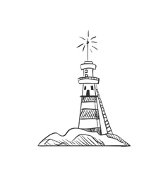 Doodle lighthouse vector