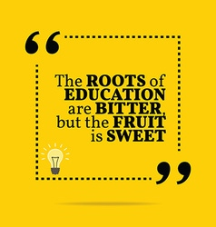 Inspirational motivational quote the roots of vector