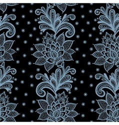 Seamless lace floral pattern vector