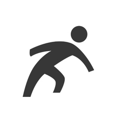 Man doing action icon pictogram design vector