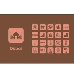 Set of dubai simple icons vector