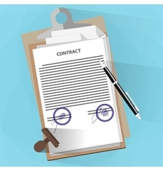 Agreement documents concept vector image vector image
