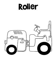 art of roller vector image vector image
