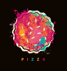 Banner with abstract image of pizza vector