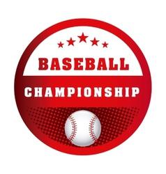 baseball game vector image vector image