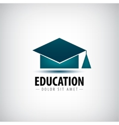 education logo icon isolated University vector image