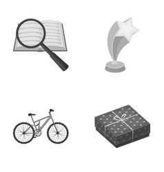 Education sport and other monochrome icon in vector