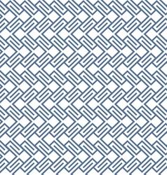 Geometric wattled seamless pattern vector