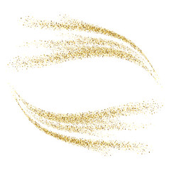 Gold glitter waves abstract background vector