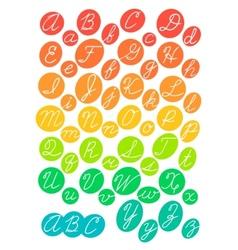 Hand drawn bright alphabet vector