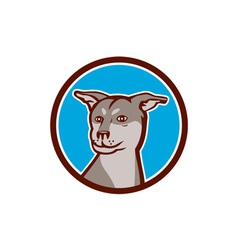Husky shar pei cross dog head cartoon vector