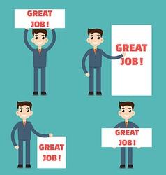 Job placard set vector
