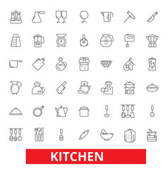 kitchen cooking tools restaurant utensils vector image