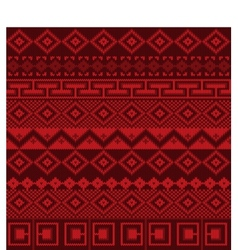 Knitted background in Fair Isle style seamless vector image