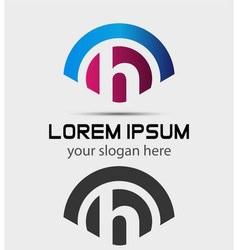 Letter H Logo Design Creative Symbol of letter H vector image vector image