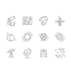 Linear icons collection for astronomy vector image vector image
