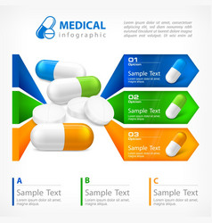 Medical pill infographic vector
