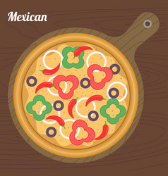 mexican pizza vector image