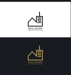 Modern real estate logo design concept vector
