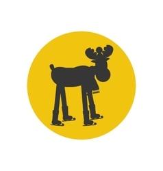 Moose silhouette icon vector