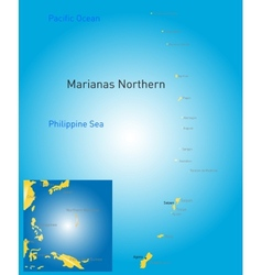 northern mariana islands map vector image vector image
